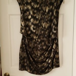 Gold and Silver Accented Black Tunic